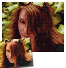 obrazki kanwy hafty ze zdjęć - ślubne